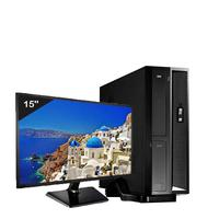 Mini Computador Icc Sl1843sm15 Intel Dual Core 4gb HD 2tb Monitor 15 Windows 10