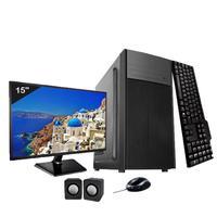 Computador Completo Icc Intel Core I3 4gb Hd 1tb Dvdrw Monitor 15 Windows 10