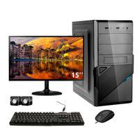 Computador Completo Corporate Asus 4° Gen I3 8gb Hd 2tb Dvdrw Monitor 15