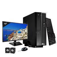Mini Computador ICC SL2347KM19 Intel Core I3 4gb HD 240GB SSD Kit Multimídia Monitor 19,5 Windows 10