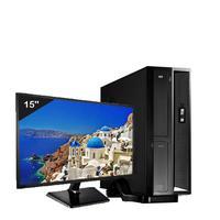 Mini Computador Icc Sl1882sm15 Intel Dual Core 8gb HD 1tb Monitor 15 Windows 10