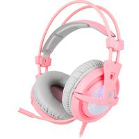 Headset Sades A6 Angel Edition, 7.1, Usb, Rosa