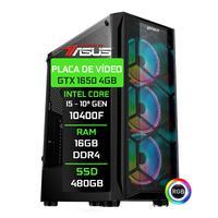 Computador Gamer Fácil By Asus Intel Core i5 10400f, 16GB, GTX 1650 4GB, SSD 480GB, Fonte 500W