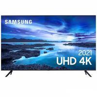 "Smart TV Samsung 43"" Uhd Processador Crystal 4k, Tela Sem Limites Controle Único  - 43au7700"