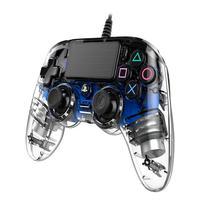 Controle Nacon Wired Illuminated Compact Controller Blue (com Fio, Iluminado, Azul) - Ps4 E Pc