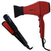 Kit Taiff - Secador Profissional Style Red 2000w 220v + Prancha Frizz 230ºc Biv