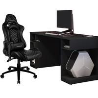 Kit Mesa Para Pc Gamer Destiny Com Cadeira Gamer Tgc12 H01 Thunderx3 Preto - Lyam Decor