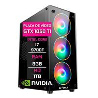 Computador Gamer Fácil, Intel Core I7 9700f, 8gb Ddr4 2666 Mhz, Geforce Gtx 1050ti 4gb, Hd 1tb, Fonte 500w