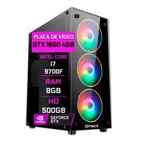 Computador Gamer Fácil, Intel Core, 8gb, I7 9700f, Geforce Gtx 1650 4gb, Ddr4, Hd 500gb, Fonte 500w
