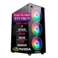 Pc Gamer Fácil, Intel Core I7 9700f, 16gb, Geforce Gtx 750ti 4gb, Ddr4 Hd 500gb, Fonte 500w