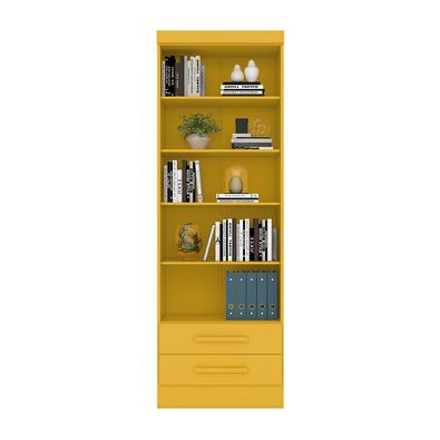 Livreiro Multiuso com 2 Gavetas Amarelo - Qmovi