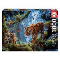 Puzzle 1000 Peças Tigres - Educa - Importado