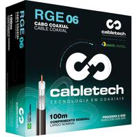 Cabo Coaxial Rgc 06 60% Branco 100m Cabletech