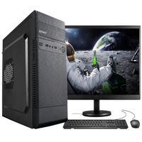 "Computador Completo Fácil Intel Core I3 4gb Hd 500gb Monitor 15"" Hdmi Led Teclado E Mouse"