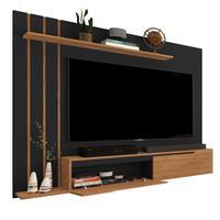 Painel Para Tv Até 60 Polegadas Classic - Preto Com Nature - Rpm Móveis