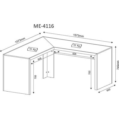 Mesa Para Computador De Canto Me4116 - Tecno Mobili - Amendoa