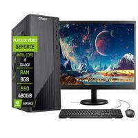 """Computador Completo Fácil Intel Core I5 10400f (décima Geração) 8gb Ddr4 Geforce Nvidia 1gb Ssd 480gb Monitor 19"""" Hdmi"""