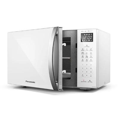 Micro-ondas Panasonic Tecnologia Dupla Refeição 34 Litros Branco 110v Nn-st65lwrun