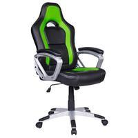 Cadeira Gamer Em Couro Pu Pelegrin Pel-3007 - Verde
