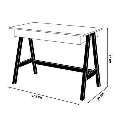 Escrivaninha Escritório Home Office Limbo Off White/amêndoa - Gran Belo