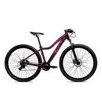 Bicicleta Aro 29 Ksw Cambios Gta 27 Vel Freio Disco Hidráulica E Trava - 15.5 polegadas  - Preto/rosa