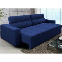Sofá 3 Lug Connect 250 Cm Retrátil/reclinável Azul – Ws