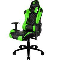 Cadeira Gamer Office Giratória Com Elevação A Gás Tgc12 H01 Preto Verde - Thunderx3