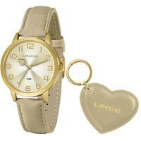 Relógio Lince Feminino Funny Dourado Lrc4671l-kn28c2tx - Dourado
