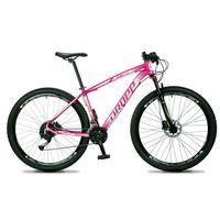 "Bicicleta Aro 29 Dropp Rs1 Pro 27v Alivio, Fr. Hidra E Trava - Rosa/branco - 17"" - 17"""