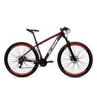 """Bicicleta Alum 29 Ksw Cambios Gta 27 Vel Freio Disco Hidráulica E Trava - 19"""" - Preto/vermelho"""