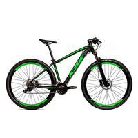 Bicicleta Alum 29 Ksw Cambios Gta 27 Vel Freio Disco Hidráulica E Trava - 21´´ - Preto/verde Fosco