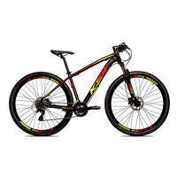 Bicicleta Alumínio Aro 29 Ksw 24 Velocidades Freio  Hidráulico Krw17 - 17´´ - Preto/amarelo E Vermelho