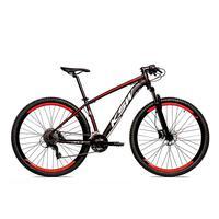 Bicicleta Alumínio Ksw Shimano Altus 24 Vel Freio Hidráulico E Cassete Krw19 - 17'' - Preto/vermelho