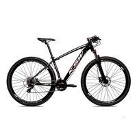 Bicicleta Alumínio Ksw Shimano Altus 24 Vel Freio Hidráulico E Suspensão Com Trava Krw18 - 21'' - Preto/prata