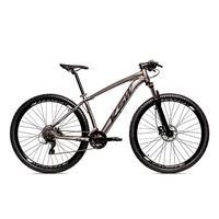 Bicicleta Alumínio Ksw Shimano Altus 24 Vel Freio Hidráulico E Suspensão Com Trava Krw18 - 19´´ - Grafite/preto Fosco