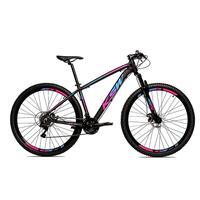 Bicicleta Alumínio Aro 29 Ksw Shimano Tz 24 Vel Ltx Krw20 - Preto/azul E Rosa - 15.5''