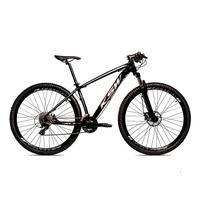 Bicicleta Alumínio Ksw Shimano Altus 24 Vel Freio Hidráulico E Cassete Krw19 - 21´´ - Preto/prata