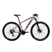 Bicicleta Alumínio Aro 29 Ksw 24 Velocidades Freio  Hidráulico Krw17 - 21´´ - Prata/preto