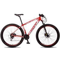 Bicicleta Aro 29 Dropp Rs1 Pro 24v Acera Freio Hidra E Trava - Vermelho/branco - 15''