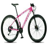 Bicicleta Aro 29 Dropp Rs1 Pro 27v Alivio, Fr. Hidra E Trava - Rosa/branco - 15´´ - 15´´