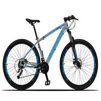 Bicicleta Aro 29 Dropp Z3x 27v Suspensão E Freio Hidraulico - Cinza/azul - 17´´ - 17´´