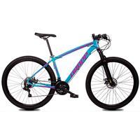 Bicicleta Aro 29 Dropp Z1x 21v Shimano, Susp E Freio A Disco - Azul/rosa - 17´´ - 17´´