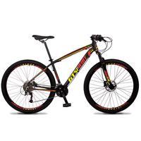 Bicicleta Aro 29 Gt Sprint Volcon 27v Susp E Freio Hidraulic - Preto/vermelho E Amarelo - 19''