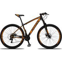 Bicicleta Aro 29 Dropp Z3 21v Shimano, Suspensão Freio Disco - Preto/laranja - 21´´ - 21´´