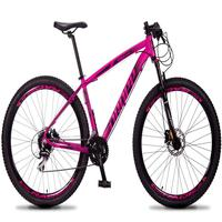 Bicicleta Aro 29 Dropp Rs1 Pro 24v Acera Freio Hidra E Trava - Rosa/preto - 21´´ - 21´´