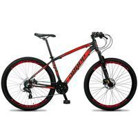 Bicicleta Aro 29 Dropp Z4x 24v Susp C/trava Freio Hidraulico - Preto/vermelho - 19´´ - 19´´