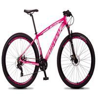 Bicicleta Aro 29 Dropp Rs1 Pro 21v Tourney Freio Disco/trava - Rosa/branco - 19