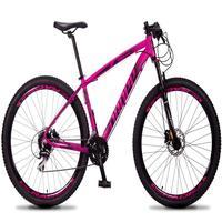 Bicicleta Aro 29 Dropp Rs1 Pro 24v Acera Freio Hidra E Trava - Rosa/preto - 17´´ - 17´´