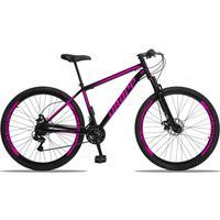 Bicicleta Aro 29 Dropp Sport 21v Suspensão E Freio A Disco - Preto/rosa - 19´´ - 19´´