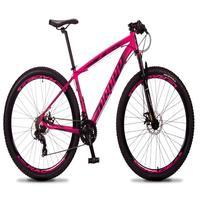 Bicicleta Aro 29 Dropp Rs1 Pro 21v Tourney Freio Disco/trava - Rosa/preto - 17